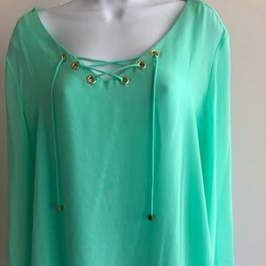 Pastel Mint Green JLO Top
